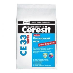 Затирка Ceresit CE 33 (сер-голуб) 2 кг