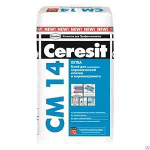 Клей для плитки Ceresit CM 14 (плитка) 25 кг