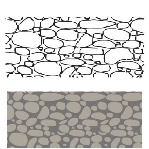 Трафарет бумажный Камень Валенсии