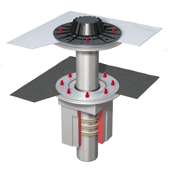 Воронка в комплекте SF Roof drai.sys.PVC DN100