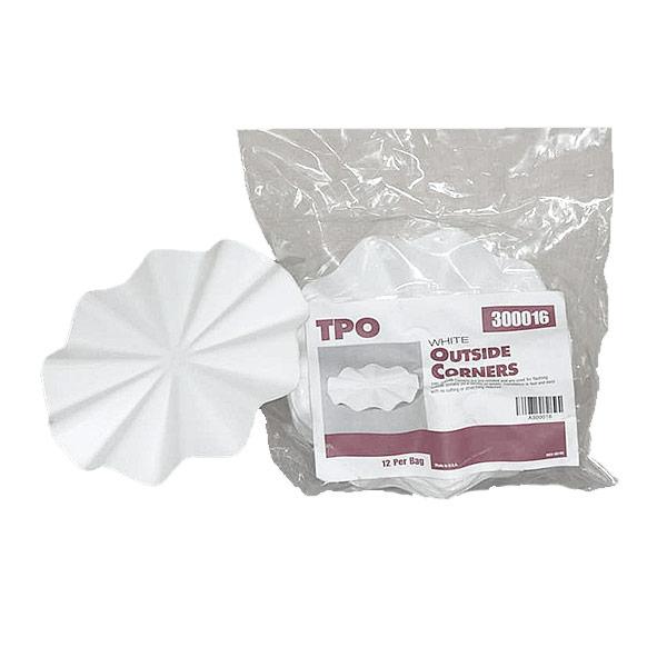 Т-образные накладки белые D 150мм