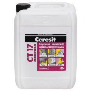 Грунтовка - концентрат Ceresit CT 17 Con 1 л
