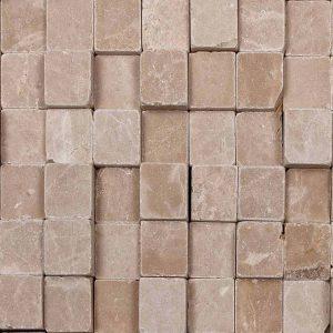 Мраморная мозайка Cubic beige 300 x 300 x 15-25