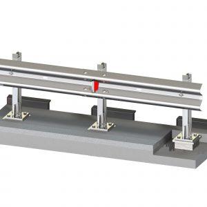 Ограждение мостовое одностороннее 11МО/У1 (130) - 0,75-3,0-0,75