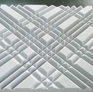 Крупноформатная стеновая акустическая панель ЭхоКор 90