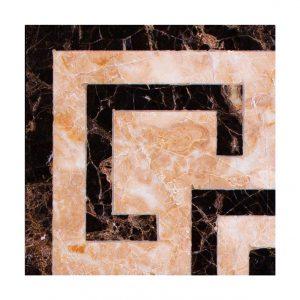 Декоративный мрамор на керамике B04-1C Dark Emperador/ Cappuccino 150 х 150
