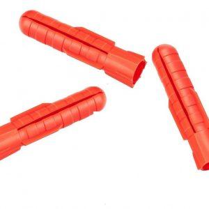 Дюбель трехраспорный 8х50, Росдюбель тип T (красный) (1000 штук в упаковке)