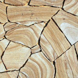 Камень облицовочный натуральный Песчаник желтый с разводом 60 %