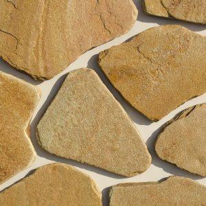 Камень облицовочный натуральный Песчаник желтый галтованый
