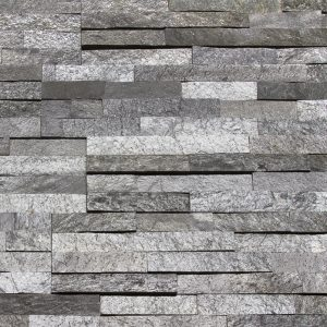 Мраморная мозайка Black Silver 600 x 150 x 15-25