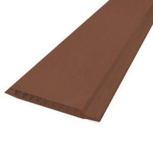 Вагонка ПВХ ЭКО Красно-коричневая 3000х100х10 мм