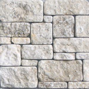 Камень облицовочный натуральный Известняк белый,галтованый