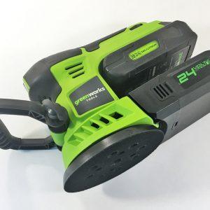 Эксцентриковая шлифовальная машина GreenWorks G24ROS