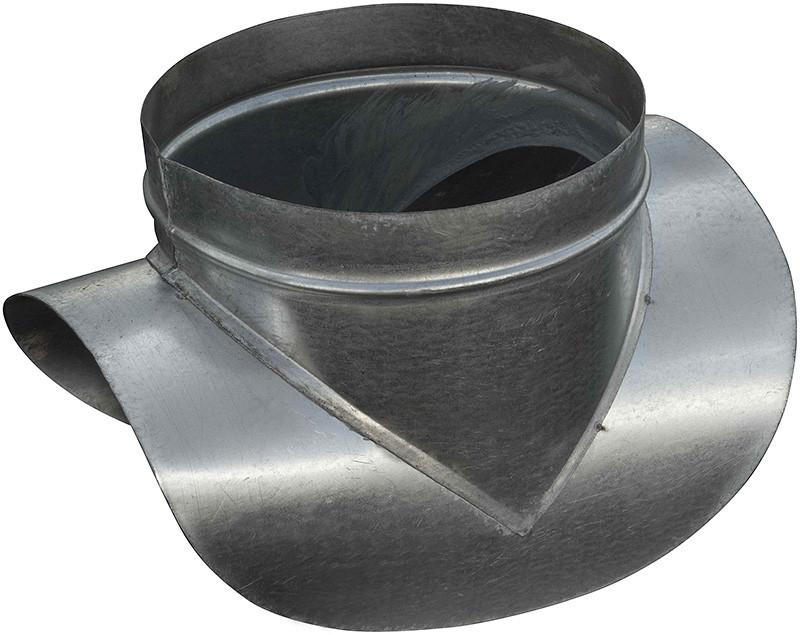 Врезка в трубу (воздуховод) d= 1600 мм