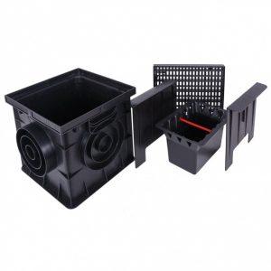 Комплект для сбора мусора (корзина, сифон-перегородка 2шт) к дождеприемнику 300х300