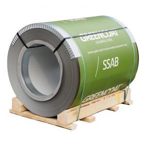 Рулонная кровельная сталь SSAB, 1250 мм, 625 мм Матовый полиуретан PURAL MATT