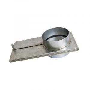 Шибер воздуховода оцинкованный d= 900 мм