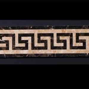 Декоративный мрамор на керамике B04-2C Dark Emperador/ Capuccino 800 х 150