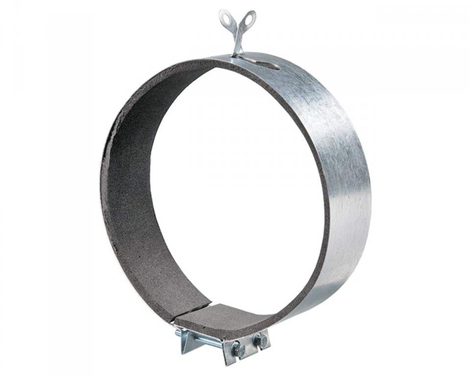 Хомут оцинкованный для вент. канала с резиновым уплотнителем-вспененный полиэтилен для d=1250