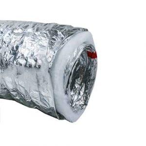 Гибкий теплоизолированный фольгированный воздуховод серия ИзоАЛ - ПП д=508 мм