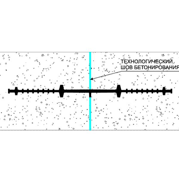 Монтажная схема гидроизоляционных шпонок ХВ