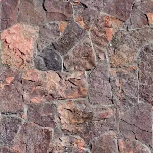 Камень облицовочный натуральный Алевролит фиолетово-оранжевый