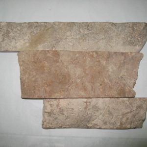 Камень облицовочный натуральный Известняк розовый полоса 90 мм