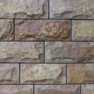 """Камень облицовочный натуральный Известняк, розовый,100х100,150,200,250 """"скала"""""""