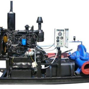 Насос двусторонний с дизельным приводом ДНА-800/56б q=500-820 h=44-37 n=5,2
