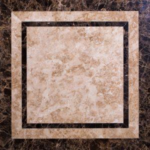 Декоративный мрамор на керамике M-006C Cappuccino/ Dark Emperador 600 х 600