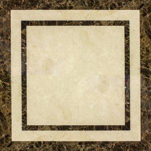 Декоративный мрамор на керамике M-006L Latte/ Dark Emperador 600 х 600