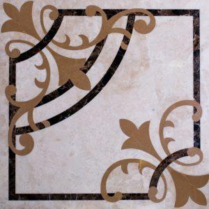 Декоративный мрамор на керамике M-009L Late/ Dark Emperador/ Light Emperador 600 х 600