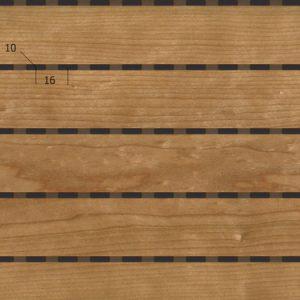 Акустическая, негорючая стеновая панель TAGinterio™ LP3-32 бесшовная стыковка