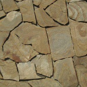 Камень облицовочный натуральный Песчаник желто-коричневый