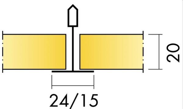 Акустическая длинномерная панель с поверхностью Akutext FT Focus D/A 2400x600 20