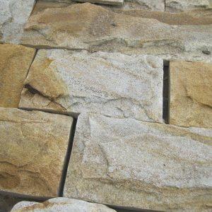 Камень облицовочный натуральный Песчаник желто-белый