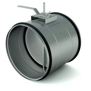 Дроссель-клапан для воздуховода c резиновым уплотнителем d= 1600 мм