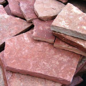 """Камень облицовочный натуральный Известняк,розовый,""""Палкино"""",неокант."""