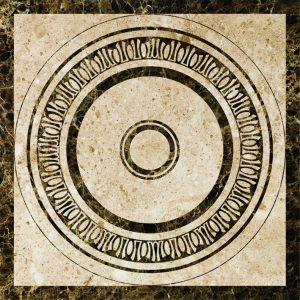 Декоративный мрамор на керамике WJ-006C Cappuccino, Dark Emperador 1200 х 1200