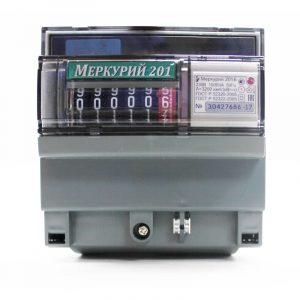 Счетчик однотарифный 1*230 5(60)А класс точности 1 DIN-рейку Меркурий 201.5