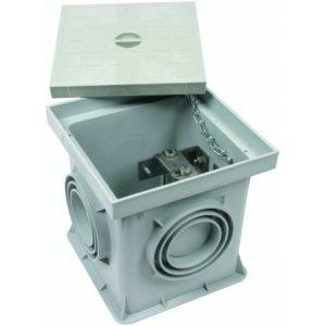 Пластиковый инспекционный лючок для подпольного монтажа тип UF с разделительной клеммой St/tZn 200x200x205мм