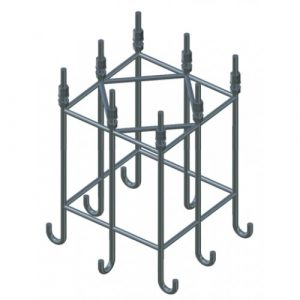 Анкерный каркас для бетонного фундамента 662х662х870 мм