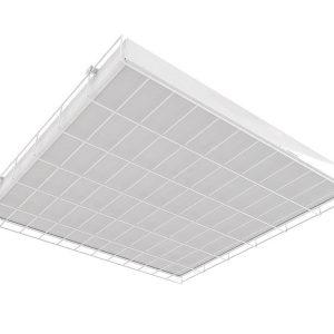 Светодиодный светильник 'ВАРТОН' спортивный накладной 595*620*65мм 36 ВТ с защитной сеткой с функцией аварийного освещения
