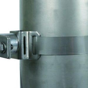 Крепежный хомут с натяжной лентой для трубостоек D=50мм NIRO