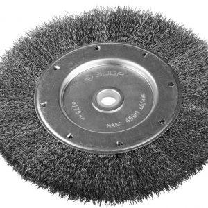 Щетка Эксперт для точильно-шлифовального станка дисковая витая стальная проволока 0,3/200