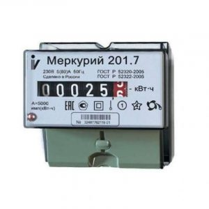 Счетчик однотарифный 1*230 5(60)А класс точности 1 DIN-рейку Меркурий 201.7