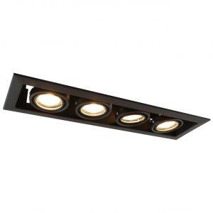 Встраиваемый светильник Arte Lamp Cardani Piccolo A5941PL-4BK