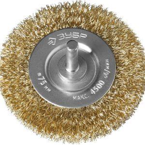 Щетка ЭКСПЕРТ для дрели дисковая плетеные пучки стальной закаленной проволоки 0,5 мм/100