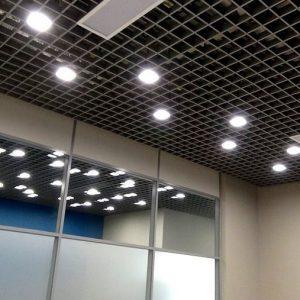 Светильник светодиодный Грильято домино Гило Юни 50 Вт., 100х100х40мм (комплект из 6 модулей)