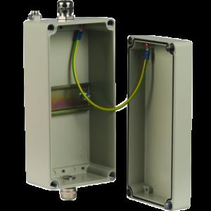 Алюминиевый корпус IP 65 для установки устройств на DIN-рейку 5 модулей